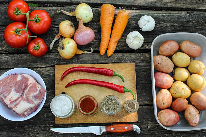 Рецепт крымскотатарской кухни - Дымлама на костре